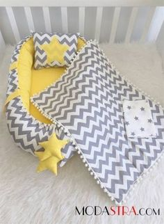 Modastra Baby Nest ve Özel Pikeli Set Baby Nest Quilt Baby, Baby Pillows, Baby Bedding, Baby Nest Bed, Kit Bebe, Baby Sewing Projects, Baby Needs, Baby Cribs, Baby Sleep