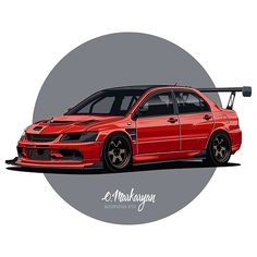 Jdm Wallpaper, Sports Car Wallpaper, Tuner Cars, Jdm Cars, Most Popular Cars, Custom Muscle Cars, Car Vector, Mitsubishi Lancer Evolution, Car Illustration