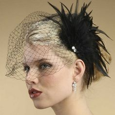 Feather Fan Hair Fascinator ... for the volunteers to wear!