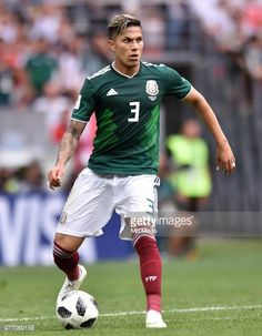 Carlos Salcedo of Mexico in action during the 2018 FIFA World Cup Russia group F match between Germany and Mexico at Luzhniki Stadium on June 17 World Cup 2018, Fifa World Cup, Mexico National Team, Mexico Soccer, Football Mexicano, National Football Teams, Soccer Players, Messi, Real Madrid