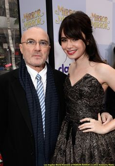 Lily Collins and father/musician Phil Collins! Lily Collins, Ralph Fiennes, Casino Royale, Daniel Craig, Julia Roberts, American Horror Story, Julia Piaton, Beatles, Beyonce