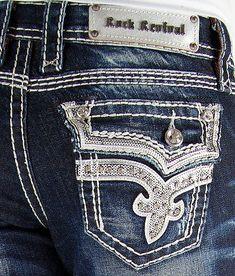 Rock Revival Easy Crop Jean Capris Cloee Medium Wash Stretch Size  33 34