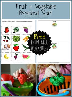 We are back with another collaborative preschool learning post! This week the theme is Food. I am sharing two ways we worked on differentiating between our fruits and vegetables by sorting them, and I am including a free printable worksheet for you to try out at home. The first sorting activity we completed was straight …