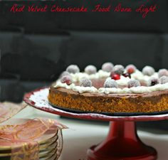 Awesome and low fat - Red Velvet Cheesecake www.fooddonelight.com