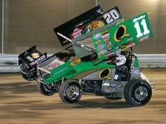 Steve Kinser two wheelin