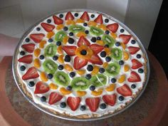 Somewhat healthy Fruit Pizza!