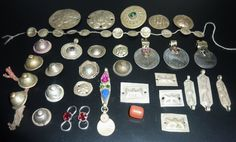 Tribal Metallteile Sammlung vintage Kuchi von neemaheTribal auf Etsy