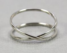 Solid Gold Infinity Ring 14K Recycled Gold Hand by seababejewelry
