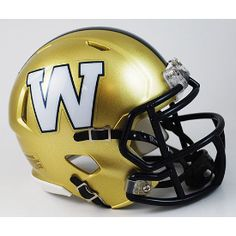 Officially licensed helmet Includes interior padding and a chinstrap Features official colors and decals Size: Made by Riddell Winnipeg Blue Bombers, Vintage Football, Super Sport, Blue Gold, Football Helmets, Nfl, Mini, Sports, Decals