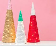Looking for Seasonal & Holiday projects? Visit Hobby Lobby for DIY Christmas Trees project details. Christmas Arts And Crafts, Christmas Ornament Crafts, Christmas Projects, Holiday Crafts, Holiday Ideas, Winter Holiday, Homemade Christmas, Diy Christmas Gifts, Christmas Wishes