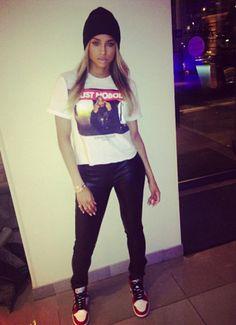 Ciara wearing Air Jordan 1