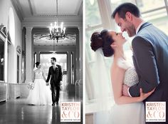 Beautiful Bride and Groom in Henry Ford Museum Promenade- Kristen Taylor Photography Blog