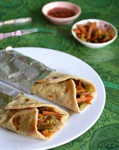 Your taste buds will LOVE this delicious Vegetable Kathi Roll recipe.