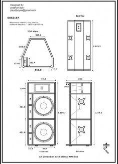 """Képtalálat a következőre: """"speaker plans"""" Dj Speakers, Woofer Speaker, Speaker Plans, Audio Amplifier, Speaker System, Audio System, Diy Subwoofer, Subwoofer Box Design, Speaker Box Design"""