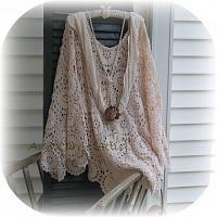 Long Boho Crochet Shawl Poncho Vintage by auntcarriesattic on Etsy