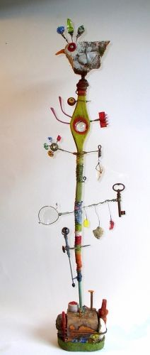 Gerard collas, sculpture, assemblage, 2012, bird, dreams