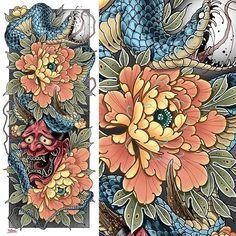 New Flowers Tattoo Sketch Leaves Ideas Sleeve Tattoos For Women, Tattoos For Guys, Flower Tattoos, Small Tattoos, Flower Drawing Tutorials, Asian Tattoos, Peonies Tattoo, Snake Tattoo, Elephant Tattoos