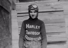 vintage everyday: 15 Fascinating Vintage Photographs of Motorcycle Riders Posing in Their Cool Harley-Davidson Racing Jerseys from the 1920s and 1930s