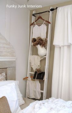 Funky Junk Interiors: Top posts and projects of 2010  Like to use as a towel rack in bathroom