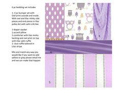 Custom Baby Bedding Crib Set 6 pc set by BabiesNBaubles on Etsy, $395.00