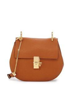 e86257440ac1 Chloe Drew Medium Grain Leather Saddle Bag