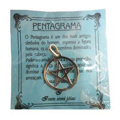 http://maniasemanias.com/produto/talisma-pentagrama-prata - O pentagrama é um dos mais antigos símbolos do homem, expressa a figura humana, os quatro membros dominados pela cabeça.