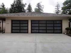 Glass garage doors. Single and double doors with semi translucent glass panels. & Glass Garage Doors via @brotendoors | Glass Garage Doors | Pinterest ...