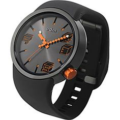 o.d.m. Watches Cubic - Black/Orange - via eBags.com!