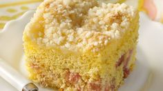 Celebrate the arrival of spring with a special, sunny cake showcasing tart, tangy rhubarb.