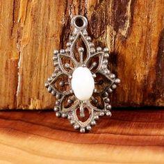 Sterling-Silver-Pebbled-OPAL-Flower-1-4g-Pendant-AS4952