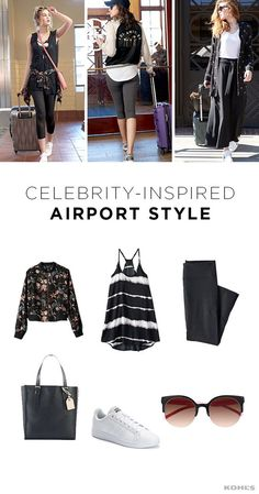 Celebrities know a thing or two about traveling and looking great doing it. Take some tips from them when you're planning your next travel outfit. Comfort is the number one priority, especially for long trips. Opt for lots of black mixed with neutral colors and don't forget to layer up—you never know when you'll be stuck on a cold plane or in a hot airport. Find your spring travel style at Kohl's.