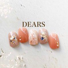 Gorgeous Nails, Love Nails, Spring Nails, Summer Nails, Korean Nails, Nude Color, Mani Pedi, Nail Arts, Nails Inspiration