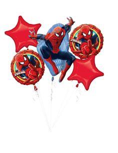 Bouquet 5 palloncini Spiderman Ultimate™ su VegaooParty, negozio di articoli per feste. Scopri il maggior catalogo di addobbi e decorazioni per feste del web, sempre al miglior prezzo!