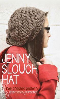 DIY Jenny Slouch Hat (Free Crochet Pattern)