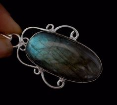 Natural Flashy Labradorite Sterling Silver Plated Pendant Gift For Mother F437 #valueforbucks #Pendant