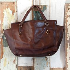 Libbie brown leather bag