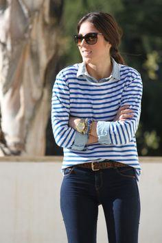 Leticia, de My Fashion Mirror, con nuestra pulsera Skull en azul klein