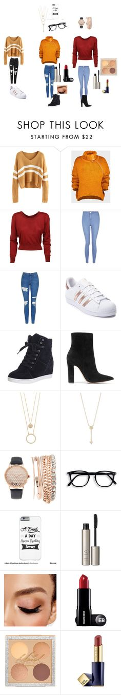 """""""Untitled #184"""" by ameliaristickitty on Polyvore featuring Marques'Almeida, New Look, Topshop, adidas, Gianvito Rossi, Kate Spade, EF Collection, Jessica Carlyle, Ilia and Avon"""