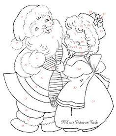 MK art's Pintura em Tecido: NATAL 11 ( Papai Noel e Mamãe Noel)