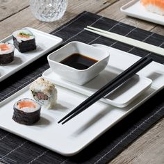 Sushi tableware for wonderful get-togethers with friends and family. Price per item from DKK 9,98 / EUR 1,42 / ISK 232 / NOK 14,98 / GBP 1,39 / SEK 14,18 / CHF 1,73 / FO-DKK 11,69