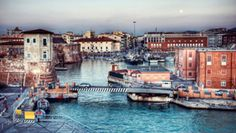 Livorno, Florence, Italy - an attractive port town on the west coast of Italy, situated in the Province of Livorno, which borders the region of Tuscany.