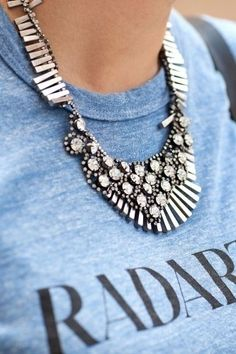 accessories, silver necklace