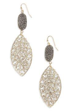 Drusy Crystal Earrings