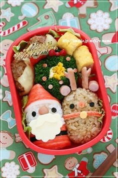 クリスマスのお弁当に参考になるサンタさんやトナカイ、クリスマスリースやツリー等、簡単で可愛くつくれるお弁当を紹介しています。サンドイッチもあります☆