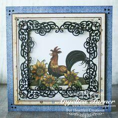 Rooster and Sunflowers {Heartfelt Creations} - Scrapbook.com