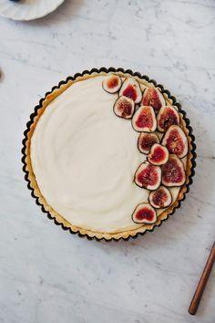 fresh fig and lemon cream tart.