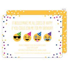 Emoji All Sorts Of Hy Birthday Invitations