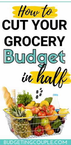 Want to save money on groceries and cut your grocery bill in half? Use these smart 7 frugal tips to save money grocery shopping (without coupons), save $100's every month when you utilize these epic money saving tips and tricks for shopping on a budget! Budgeting Couple | Budgeting Couple Blog | BudgetingCouple.com #budgetingcouple #frugal #groceries