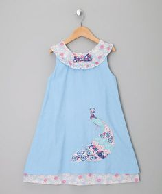 Take a look at this Blue Peacock Cord Dress by Powel Craft on #zulily today!