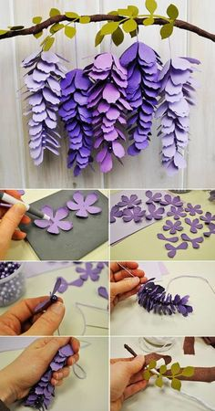 Paper decorations with shapes for tropical parties. - Paper Paper decorations with shapes for tropical parties. – Paper Flower Backdrop Wedding Paper decorations with shapes for tropical parties. Paper Flowers Craft, Felt Flowers, Flower Crafts, Diy Flowers, Flower Paper, Flower Svg, How To Make Flowers Out Of Paper, Hanging Paper Flowers, Origami Flower